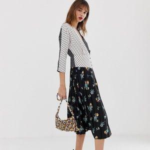 ASOS Mix Print Midi dress